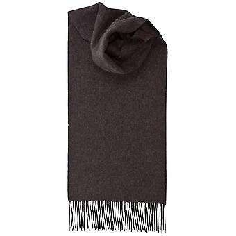 Johnstons of Elgin Lambswool Plain Scarf - Charcoal