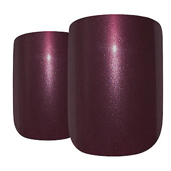 False nails by bling art brown glitter french squoval fake medium acrylic tips