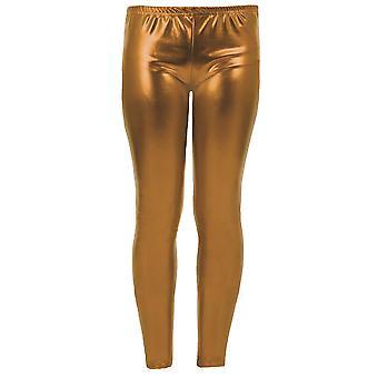 Meisjes Kid's metallisch glanzend kinderen de natte Look leggings partij Disco broek Leggings