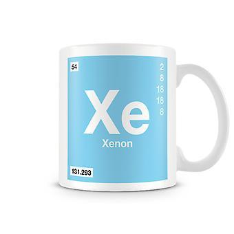 Wetenschappelijke bedrukte Mok met Element symbool 054 Xe - Xenon