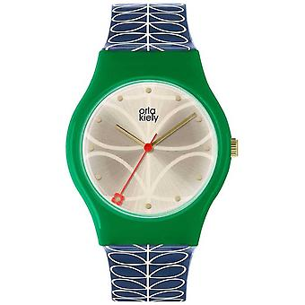 Orla Kiely Ladies Bobby Green And Navy Blue OK2224 Watch