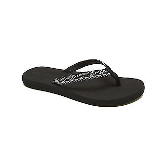 Rip Curl White-White-Black Freedom Womens Flip Flop