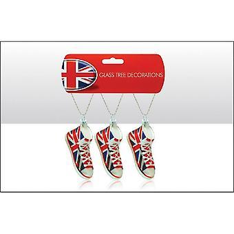 Union Jack indossare Union Jack vetro decorazione albero di Natale