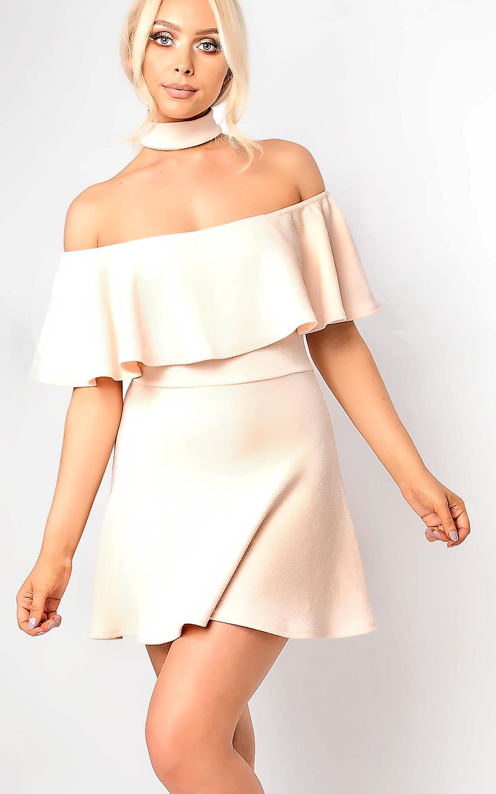d59689d651 IKRUSH Womens Taliyah Choker Neck Skater Dress