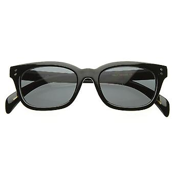 New Vintage Bold Premium zeroUV Quality Small Oval Horn Rimmed Sunglasses
