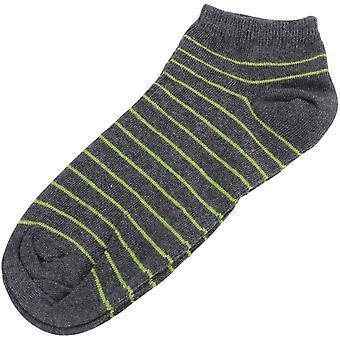 MySocks Striped Trainer Socks - Anthracite/Lime