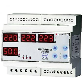 ENTES EPM-04C-DIN Programmable 3-phase DIN-rail AC-Multimeter EPM-04C-DIN Voltage, current, frequency, operating hours, Total Hours