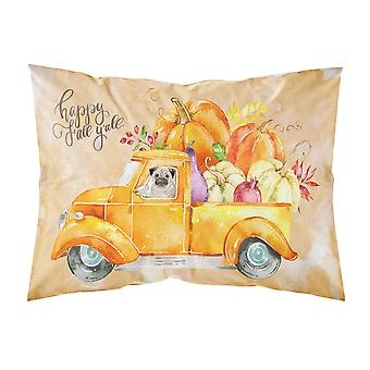 Fall Harvest Pug Fabric Standard Pillowcase