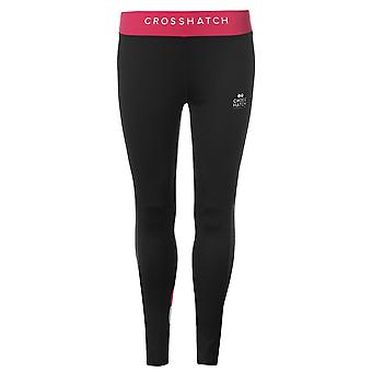 Crosshatch Womens Maureen Leggings Performance Tights Pants Trousers Bottoms Zip