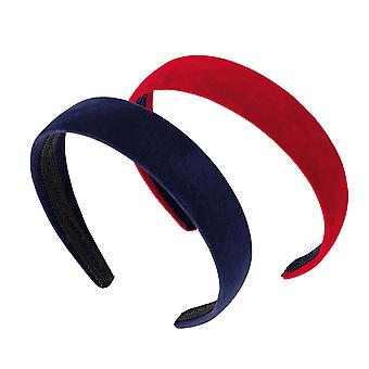 Pack of 2 girls velvet look headbands