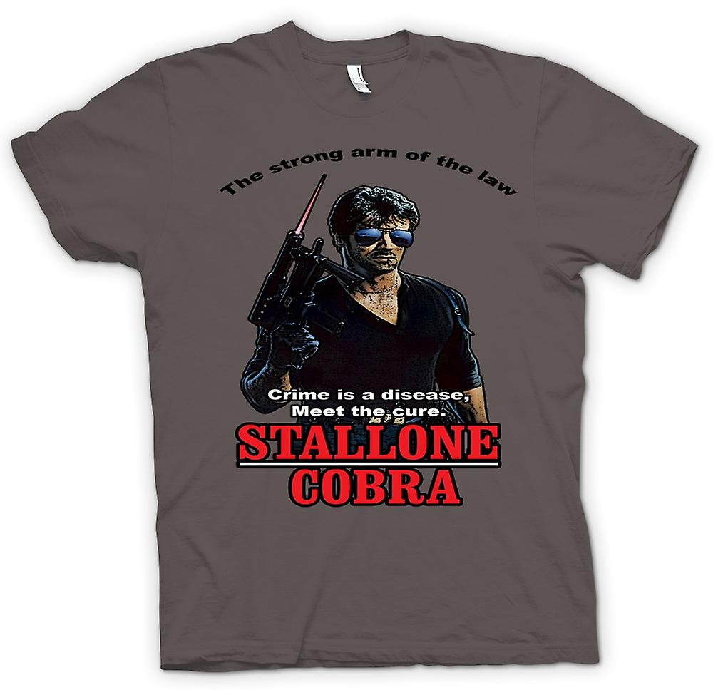 Womens T-shirt - Stallone - Cobra - Crime The Disease