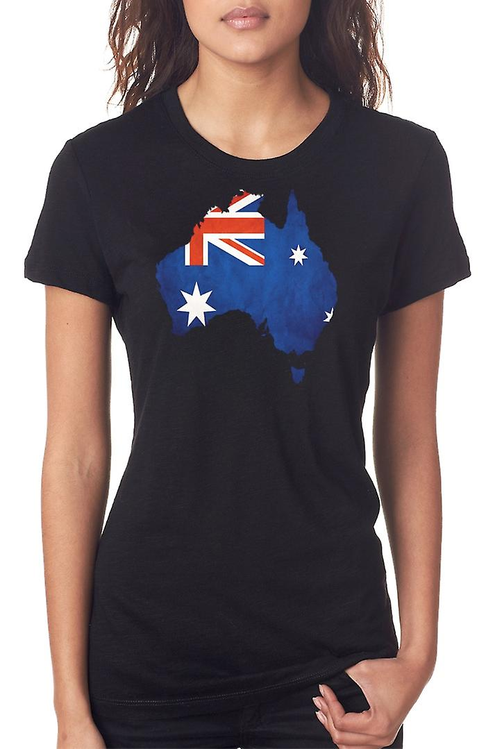 Australia Australia Flag Map Ladies T Shirt