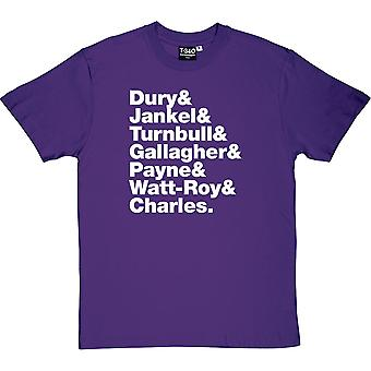 Ian Dury & The Blockheads Line-Up Men's T-Shirt