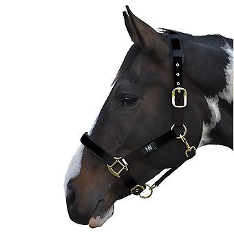 HY Deluxe polstret leder krage og svart - ponni
