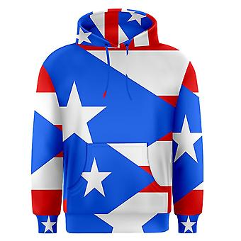 Puerto Rico Sublimated Flag Hoody