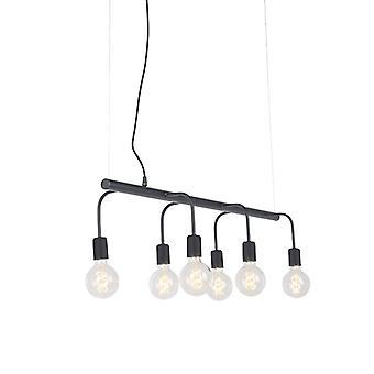 QAZQA moderni riipus lamppu 6 musta - Facile