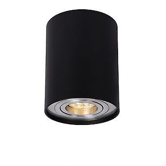 Lucide Tube Modern Cylinder Aluminum Black Ceiling Spot Light