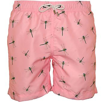 Franks Dragonfly Stampa nuotare pantaloncini, rosa pastello