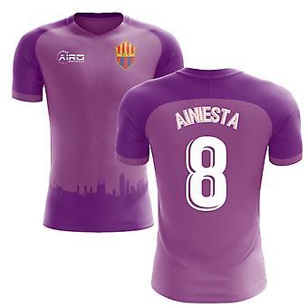2018-2019 Barcelona Third Concept Football Shirt (A.Iniesta 8)