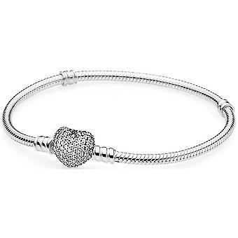 Bracelet Pandora 590727CZ - Bracelet Moments en Argent Coeur Pav�