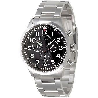 Zeno-watch mens watch Navigator NG chronograph quartz, black, MB 6569-5030Q-a1M