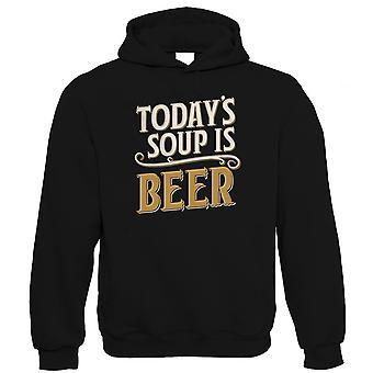 Dagens soppa är Beer hoodie | Drick öl Wine cheers fira Tipple Snifter | DRAM Clink social Fizz bubblor pint shot cocktail | Dricka gåva honom hennes födelsedag