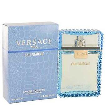 Versace Man Von Versace Eau Fraiche Eau De Toilette Spray (blau) 3.4 Oz (Männer) V728-439640