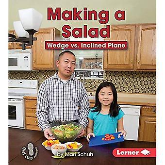 Het maken van een salade: wig VS hellend vliegtuig (eerste stap non-fictie-eenvoudige machines om de redding)