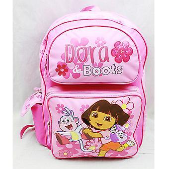 Mochila-Dora The Explorer-botas rosa (saco de escola grande) novo 81612
