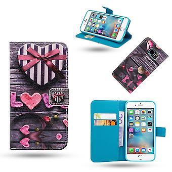Iphone 6 / 6s - Fodral / Plånbok I Läder - Love