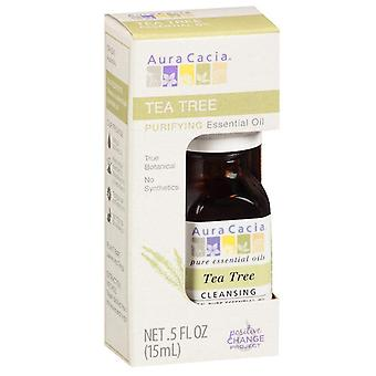 Aura cacia essential oil, tea tree, 0.5 oz