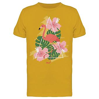 Flamingo With Tropical Leaf Tee Men's -Image by Shutterstock
