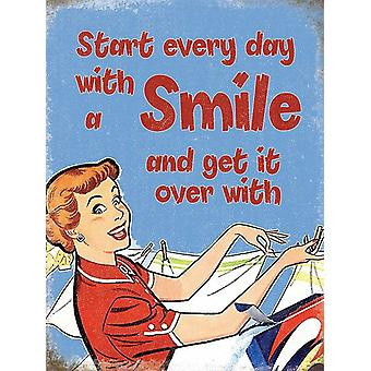Start Every Day With A Smile And Get... funny fridge magnet  (og)