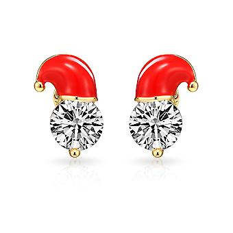 Crystal santa hat earrings created with swarovski® crystals