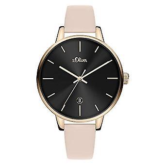 s.Oliver Quartz Women's Analog Clock with SO-3815-LQ Leather Belt