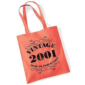 18th Birthday Tote Bag Vintage 2001 Novelty Birthday Gifts