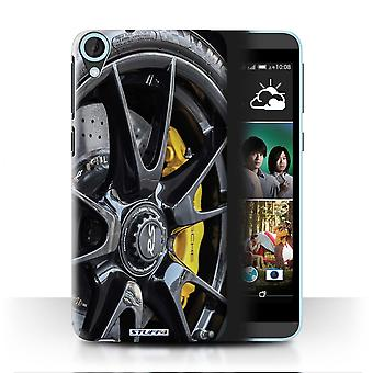 STUFF4 Case/Cover for HTC Desire 820s Dual/Black/Yellow/Alloy Wheels