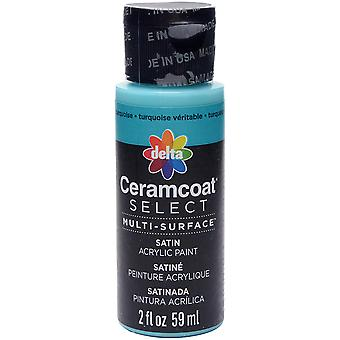 Ceramcoat Select Multi-Surface Paint 2oz-True Turquoise 4000-04020