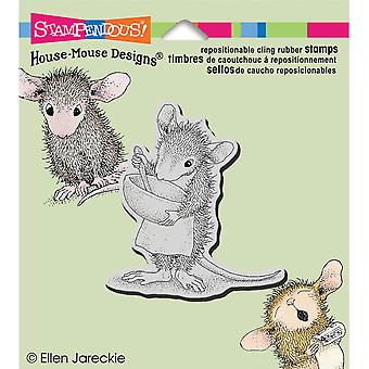 Stampendous House Mouse Cling Rubber Stamp 3.5