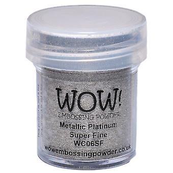 Wow! Embossing Powder Super Fine 15Ml Platinum Wow Sf Wc06