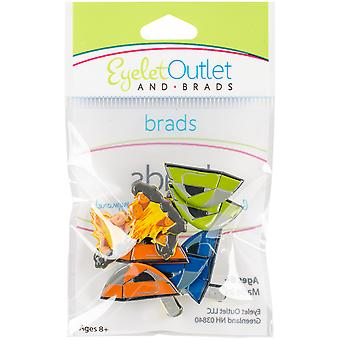 Broderie anglaise prise forme Brads 12/Pkg-Camping QBRD2-114