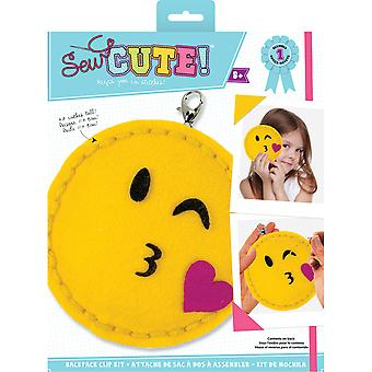 Sew Cute! Mini Felt Kit-Emoji Wink & Kiss SEWMINI-73610