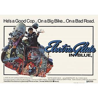 Electra Glide i blå filmaffisch (17 x 11)