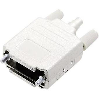 D-SUB housing Number of pins: 15 Plastic, metallised 180 ° Silver MH Connectors MHDPPK-M-15-K 1 pc(s)