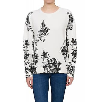 Lee leaves SWS shirt ladies Palmenprint Sweatshirt white logo
