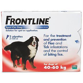 Frontline Spot på ekstra store hund 40 kg + 3 pipetter
