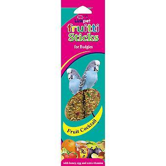 Linkpet Fruitti Sticks Budgie frugt Cocktail 2pk (pakke med 10)