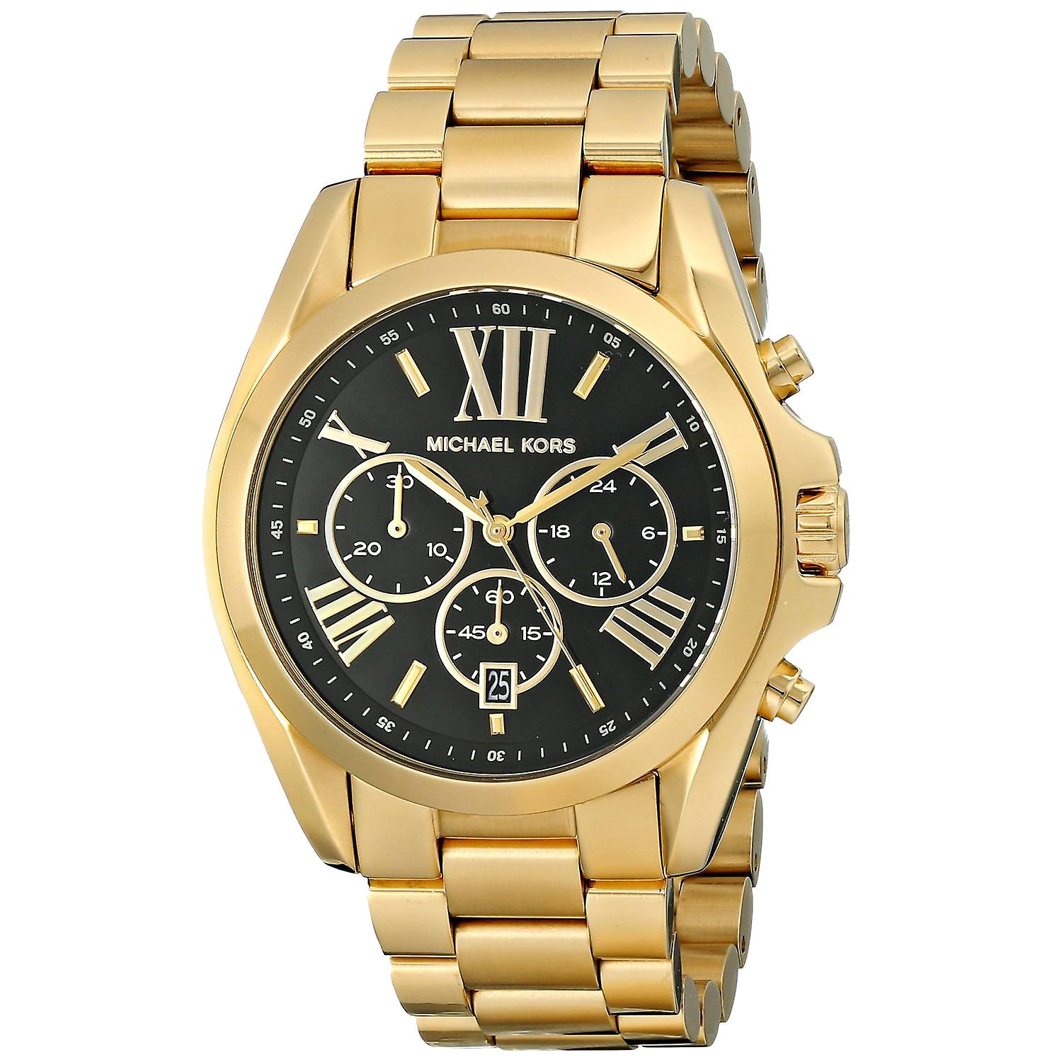 Michael Kors MK5739 Rose Bradshaw Gold Plated Chronograph Wrist Watch