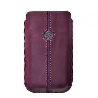 SAMSONITE DEZIR Mobile bag leather Purple to tex S3/S4