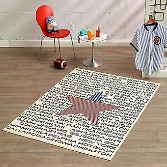 Design velour carpet city and star 140 x 200 cm | 102331